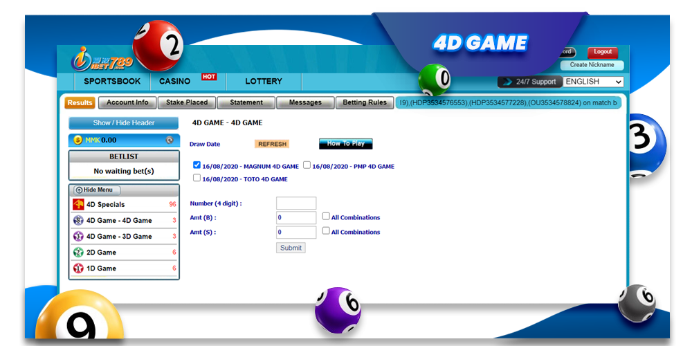 ibet789 myanmar 4D game