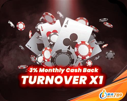 ibet789 myanmar 3% monthly cash back turnover x1 banner register